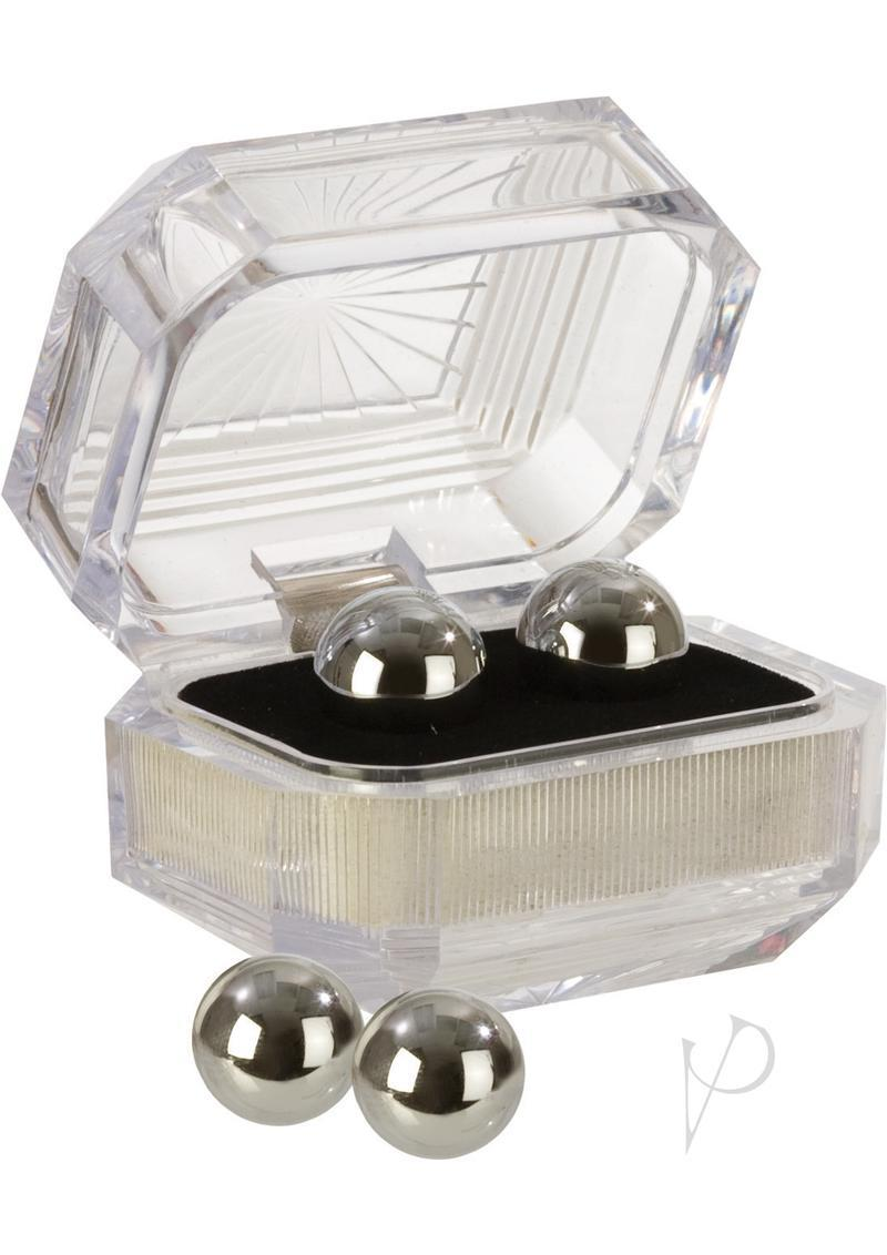 Silver Kegal Balls In Presentation Box - Silver