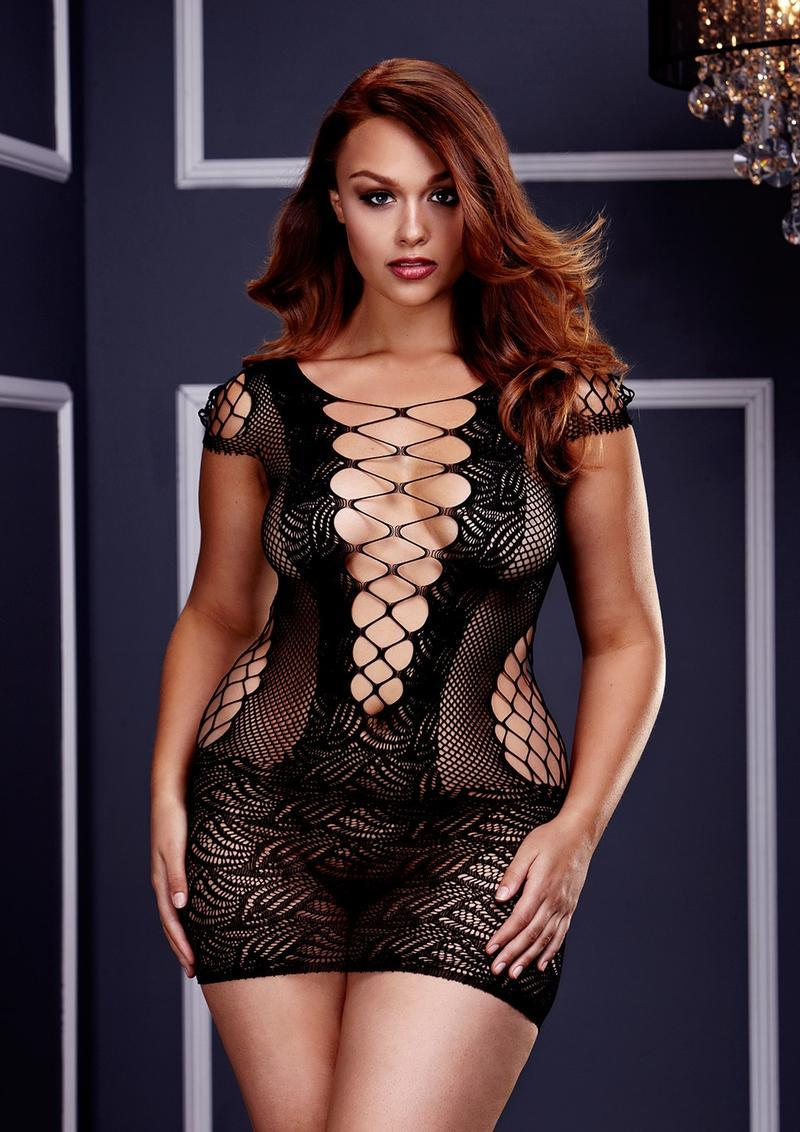 Corset Front Lace Mini Dress Q