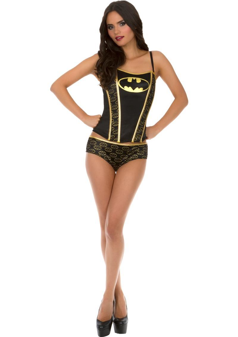 Batman Printed Corset Panty Set-large
